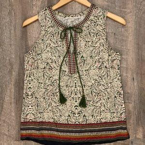 Daniel Rainn paisley tunic tank top medium